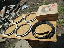"NOS ROTUNDA 14"" inch WHEEL BEAUTY TRIM RINGS Original FORD galaxie custom deluxe"