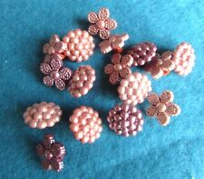Dress It Up Vintage Pearl Style Buttons Shank Pack of 14