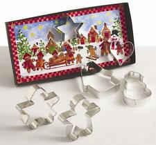 GINGERBREAD COOKIE CUTTER GIFT SET~ 6 PC SET~~ BY ANN CLARK