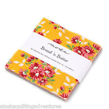 "Moda FABRIC Charm Pack ~ BREAD 'N BUTTER ~ by American Jane 42 - 5"" sqs"