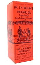 DR JH MCLEAN VOLCANIC OIL PAIN RELIEVING bon balm abexine aceite volcanico 2oz