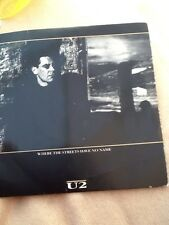 U2 Where the Streets have No Name 7 inch single Vinyl