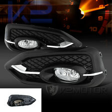 For 2014-2015 Honda Civic 2DR Coupe Clear Bumper Fog Lights+Switch+Bulbs