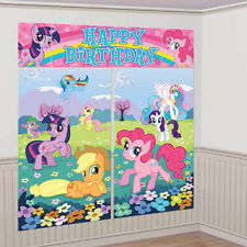 My Little Pony Wall Decoration Kit, Scene Setter Happy Birthday Party Supplies