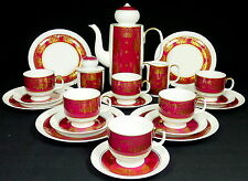 REICHENBACH - Service KAFFEESERVICE f. 6 Pers. - ORIENTALISCH - ROT GOLD