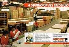 Publicité Advertising 1986 (2 pages) Les Magasins Point P matériaux