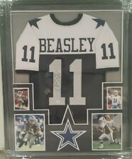 COLE BEASLEY AUTOGRAPHED COWBOYS THANKSGIVING DAY JERSEY FRAMED. JSA COA
