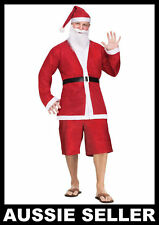 Aussie Summer SANTA CLAUS COSTUME 5pc SHORT SUIT Fancy Dress Party Mens One Size
