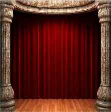 10x10FT Red Curtain Stage Column Pillars Custom Photo Background Backdrop Vinyl