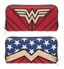 DC COMICS WONDER WOMAN JUNIORS SUIT UP ZIP AROUND WALLET ZIPPER HAND BAG CLUTCH