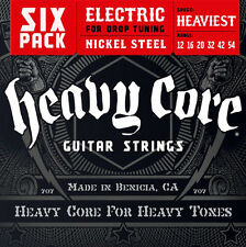 6 sets Dunlop DHCN1254 Heaviest Heavy Core Electric Guitar Strings