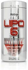 Nutrex LIPO 6 UNLIMITED Fat Burner Weight Loss Appetite Control Energy 120 Caps