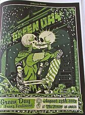 Green Day Concert Mini-Poster Reprint 14x10 For 2009 Los Angeles CA