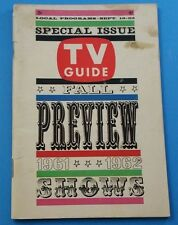 1961 Vintage #442 TV Guide *FALL PREVIEW 1961 1962* Sept 16