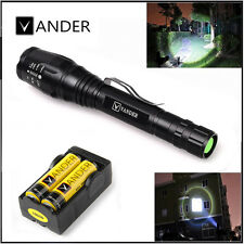 Zoomable 5000 Lumen 5 Modes XML T6 LED Torch Lamp Light 18650&Charger