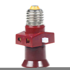 1Pcs 6A 250V E27 Screw Light Bulb Lamp Holder Socket With Power Outlet HM