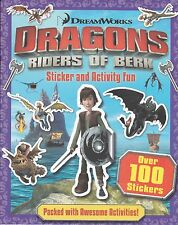 DRAGONS RIDERS OF BERK STICKER AND ACTIVITY BOOK - OVER 100 STICKERS