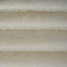 "1/6 yard INTERCAL White 1/2"" Ultra-Sparse German Mohair Teddy Bear Fabric"