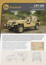 SUPACAT LRV 400 2015 4x4 6x6 LAND ROVER BASIS MILITARY BROCHURE PROSPEKT FOLDER
