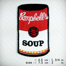Campbell's Pop Art PATCH IRON ON Clothes Decorate CHIC Graphic Andy Warhol SOUP