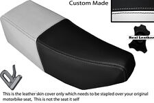 BLACK & WHITE CUSTOM FITS SUZUKI CP 50 80 LEATHER DUAL SEAT COVER ONLY