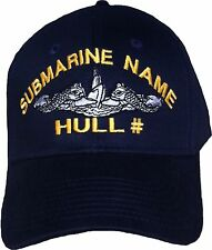 USS Cincinnati SSN 693 - Embroidered Submarine Ball Cap - Otto - BC Patch