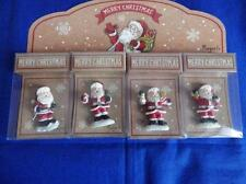 SET OF FOUR FATHER CHRISTMAS / SANTA CLAUS COLLECTABLE FRIDGE MAGNETS