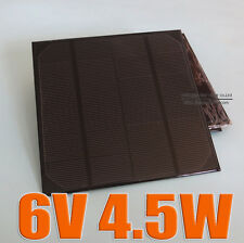 6V 4.5W 720mA Mini Mono solar Panel small solar cell PV module charger