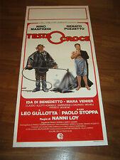 LOCANDINA,1982,TESTA O CROCE RENATO POZZETTO NINO MANFREDI