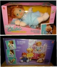 Bambola Vintage Mattel 1987 My Child Loving Baby.Rara versione capelli rossi NEW