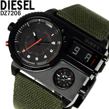 DIESEL MEN'S COLLECTION DIGITAL 3 TIME ZONE WATCH DZ7206