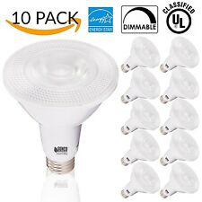 10 PACK - PAR30 LED 11WATT (75W Equivalent) 2700K Warm White Light Bulb White...