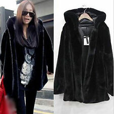 Womens Oversize Faux Fur Coat Lady Winter Warm Thick Jacket Outdoor Hooded Parka