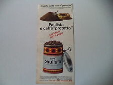 advertising Pubblicità 1966 CAFE' CAFFE' PAULISTA