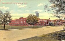 Lansing MI Reo Automobile Works Auto Car Factory 1913 Postcard