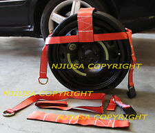"""2ea (TWO) 13""""-18"""" TOW DOLLY STRAPS CLEVIS TOWING AXLE FREE SHIP"""