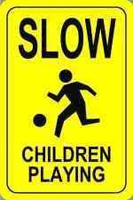 """Slow Children At Play Parking Signs 18""""x12"""""""