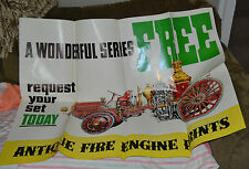 VTG May 1960 Cities Service Fire Engine Poster POS Promotional Display Oil Gas N