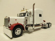DCP 1/64 SCALE 379 PETERBILT STAND UP SLEEPER WHITE WITH OFF RED FENDERS (HILTON