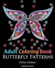 Adult Coloring Books: Butterfly Zentangle Patterns