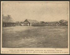 NAMIBIE NAMIBIA POSTE MILITAIRE ALLEMAND IMAGE 1919