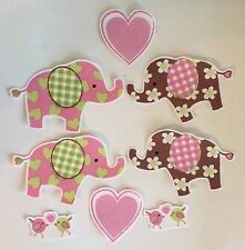 Baby Elephants - Baby Shower Onsies, Iron On Fabric Appliques -Jungle Animals