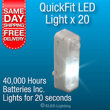 QUICKFIT LED CABINET SENSOR LIGHT - BOX BUY (20PCS) Kitchen Cupboard Light LED