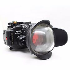 40M Underwater waterproof Camera Housing, fisheye wide angle lens for Sony A6000