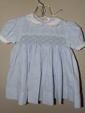 Petit Ami 6m Smocked Dress Blue White Seersucker Flowers Spring Special Boutique