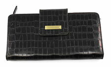 Kenneth Cole New York Black Leather Snap On Wallet