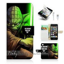 iPhone 5 5S Print Flip Wallet Case Cover! Starwars Yoda P0251