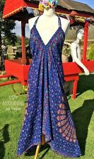 NEW MANDALA DRESS UK SIZE 14 16 BOHO HIPPIE BLUE YOGA BEACH BAG TOP SKIRT WRAP