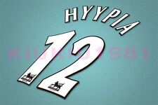 Liverpool Hyypia #12 PREMIER LEAGUE 97-06 White Name/Number Set