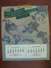 1954 Calendar of Jehovah's Witnesses WATCHTOWER, November & December only
